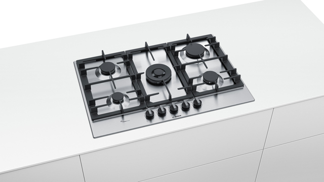 Bosch Serie 6 PCQ7A5B90 Built In Gas Hob - Stainless Steel - PCQ7A5B90_SS - 5
