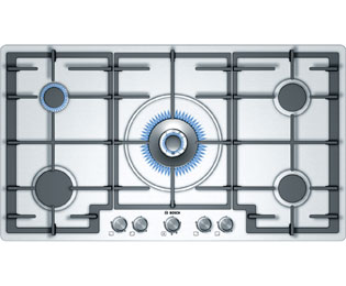 Product image for Bosch Classixx PCR915B91E 92cm Gas Hob - Stainless Steel