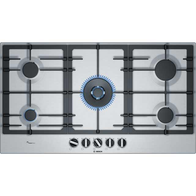 Bosch Serie 6 PCR9A5B90 Built In Gas Hob - Stainless Steel - PCR9A5B90_SS - 1