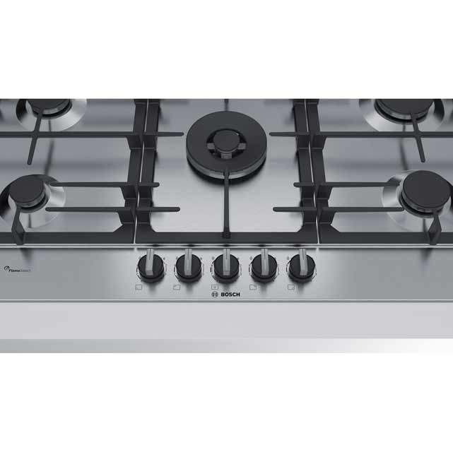 Bosch Serie 6 PCR9A5B90 Built In Gas Hob - Stainless Steel - PCR9A5B90_SS - 2