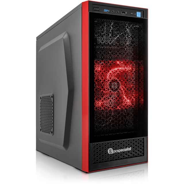 PC Specialist PCS-D1230877 Desktop Pc in Black / Red