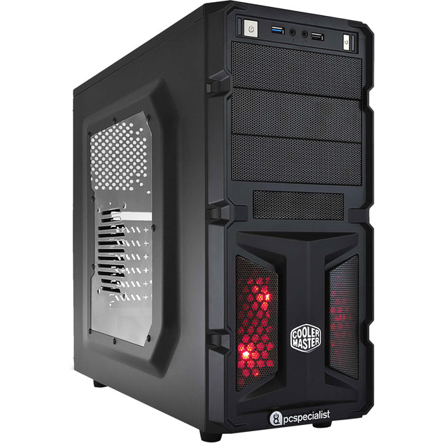 PC Specialist PCS-D1230911 Desktop Pc in Black / Red