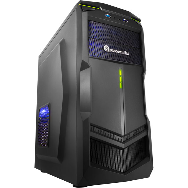 PC Specialist PCS-D1362356 Gaming Desktop in Black