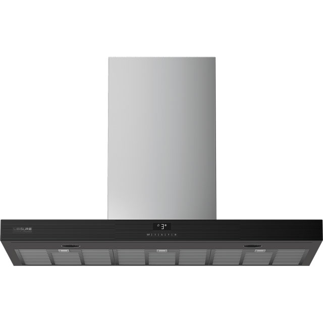 Leisure PCWB6752XBP 60 cm Chimney Cooker Hood - Black - A Rated - PCWB6752XBP_BK - 1
