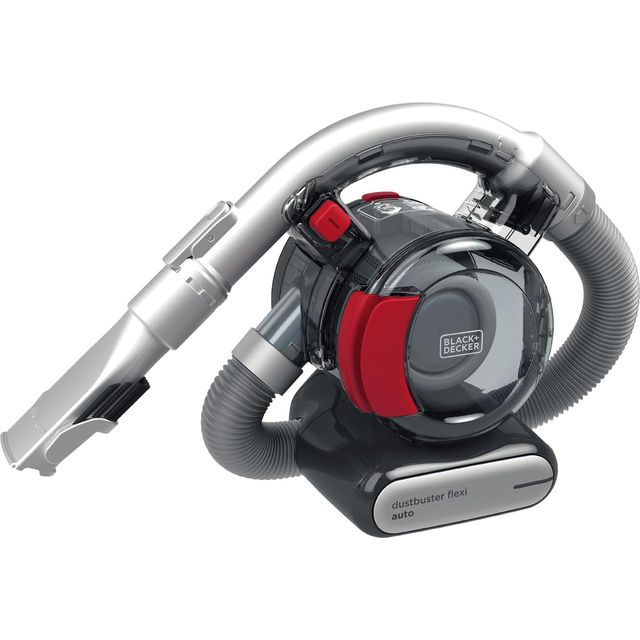 Black & Decker 12DC Dustbuster Autovac Flexi PD1200AV-XJ Handheld Vacuum Cleaner in Comic Grey / Chilli Red
