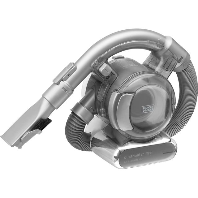 Black & Decker 18V Flexi Dustbuster PD1820L-GB Handheld Vacuum Cleaner in White / Grey / Chrome
