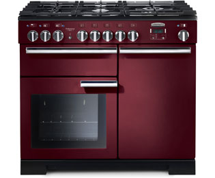 Rangemaster PDL100DFFCY/C Professional Deluxe 100cm Dual Fuel Range Cooker - Cranberry - PDL100DFFCY/C_CY - 1