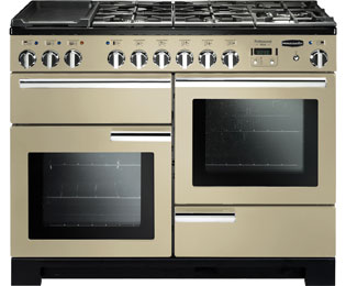 Rangemaster Professional Deluxe 110cm Dual Fuel Range Cooker - Cream - A Rated