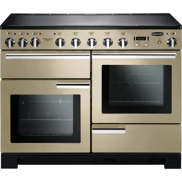 Rangemaster Professional Deluxe PDL110EICR/C 110cm Electric Range Cooker with Induction Hob - Cream - A/A Rated - PDL110EICR/C_CR - 1