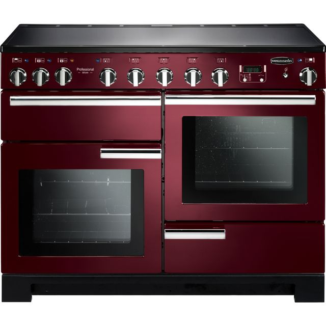 Rangemaster Professional Deluxe PDL110EICY/C 110cm Electric Range Cooker with Induction Hob - Cranberry - A Rated - PDL110EICY/C_CY - 1