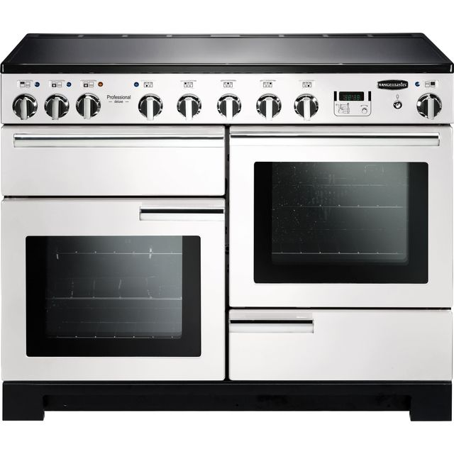 Rangemaster Professional Deluxe PDL110EIWH/C 110cm Electric Range Cooker with Induction Hob - White - A Rated - PDL110EIWH/C_WH - 1