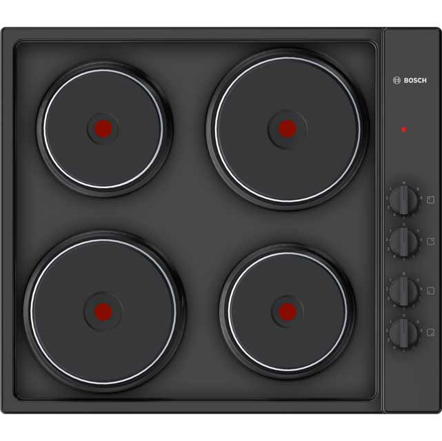 Bosch Serie 2 58cm Solid Plate Hob - Black
