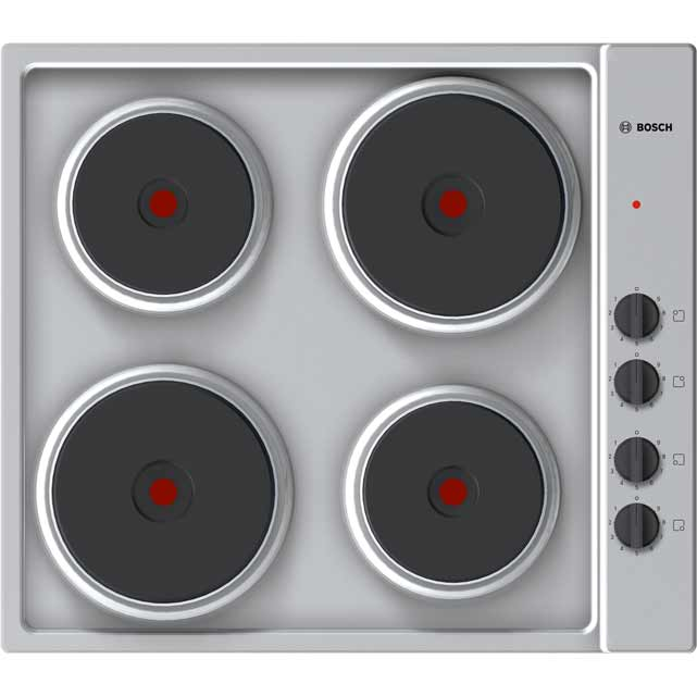 Bosch Serie 2 58cm Solid Plate Hob - Stainless Steel