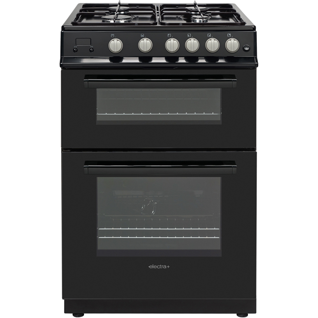 Electra+ PFSDOG6B 60cm Gas Cooker with Gas Grill - Black - A+ Rated - PFSDOG6B_BK - 1