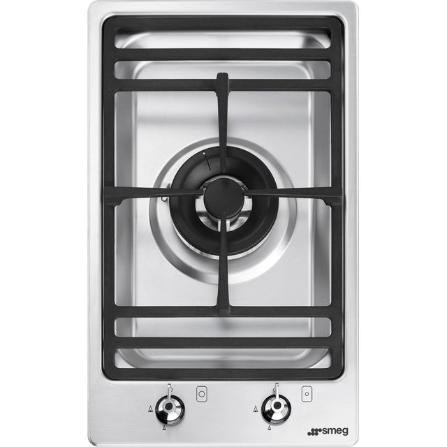 Smeg Classic PGF31G-1 Built In Gas Hob - Stainless Steel - PGF31G-1_SS - 1