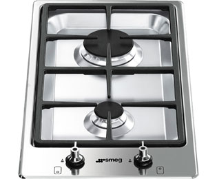 Smeg Classic PGF32G 31cm Gas Hob - Stainless Steel
