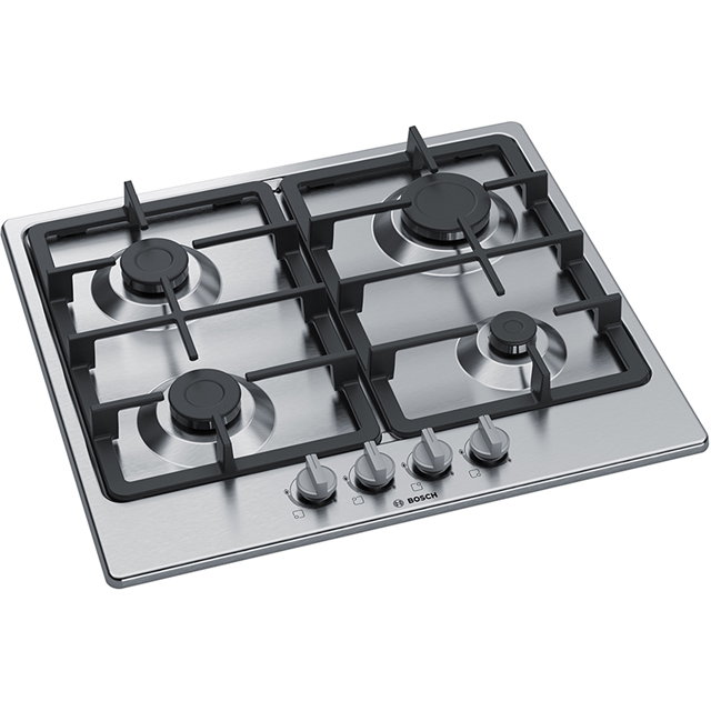 Bosch Serie 4 PGP6B5B90 Built In Gas Hob - Stainless Steel - PGP6B5B90_SS - 2