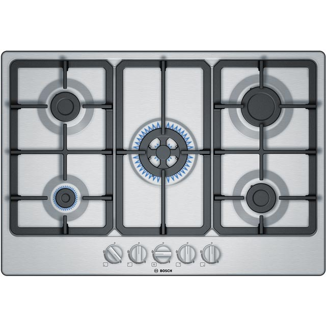 Bosch Serie 4 PGQ7B5B90 Built In Gas Hob - Stainless Steel - PGQ7B5B90_SS - 1