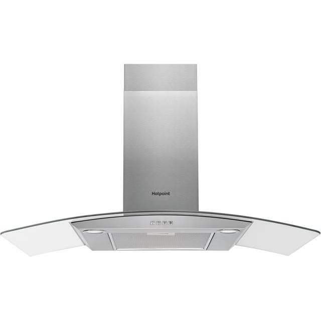 Hotpoint 90 cm Chimney Cooker Hood - Stainless Steel - D Rated