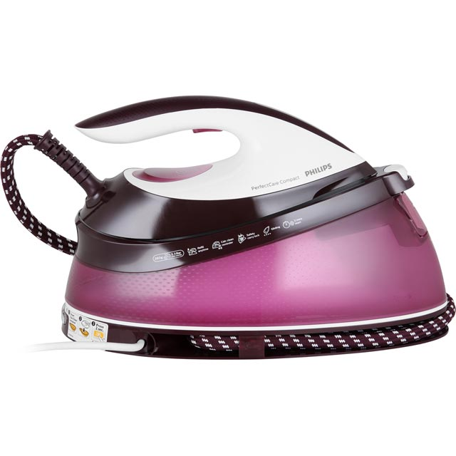 Philips PerfectCare Compact Pressurised Steam Generator Iron - Pink