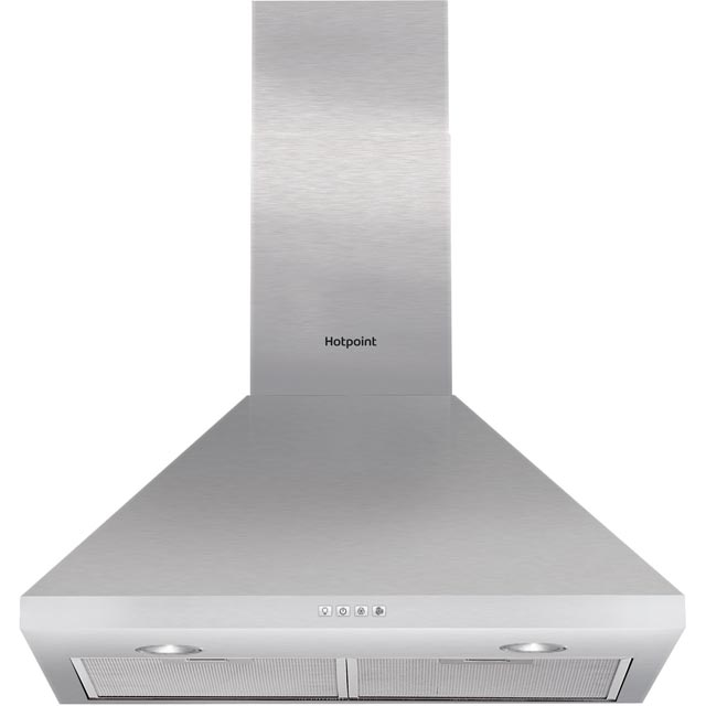Hotpoint PHPC6.5FLMX 60 cm Chimney Cooker Hood - White - D Rated - PHPC6.5FLMX_SS - 1