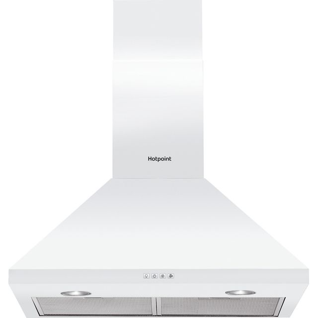 Hotpoint PHPC6.5FLMX Built In Chimney Cooker Hood - White - PHPC6.5FLMX_SS - 1