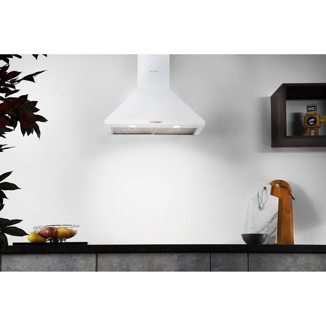 Hotpoint PHPC6.5FLMX Built In Chimney Cooker Hood - White - PHPC6.5FLMX_SS - 5