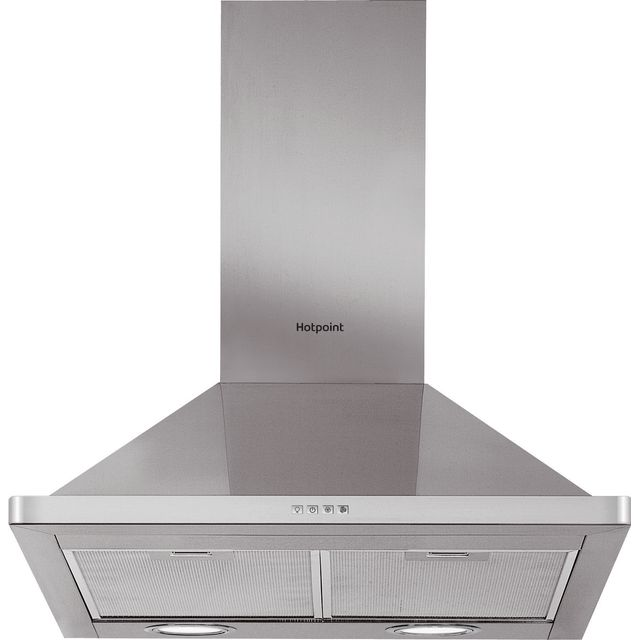 Hotpoint 60 cm Chimney Cooker Hood - Stainless Steel - C Rated