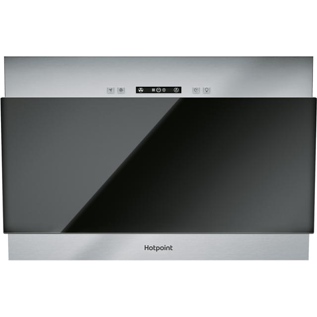 Hotpoint 60 cm Chimney Cooker Hood - Black - E Rated