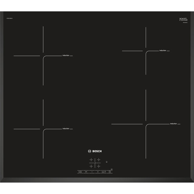 Bosch Serie 4 PIE651BB1E 59cm Induction Hob - Black