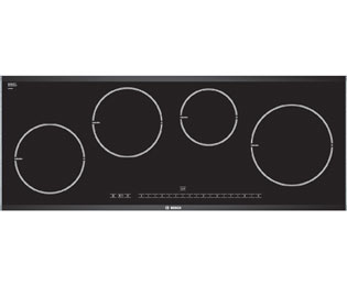 Bosch Serie 8 PIE975N14E 92cm Induction Hob - Black / Brushed Steel