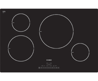 Bosch Serie 4 PIL811F17E 77cm Induction Hob - Black