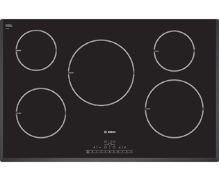 Product image for Bosch Exxcel PIM851F17E 80cm Induction Hob - Black