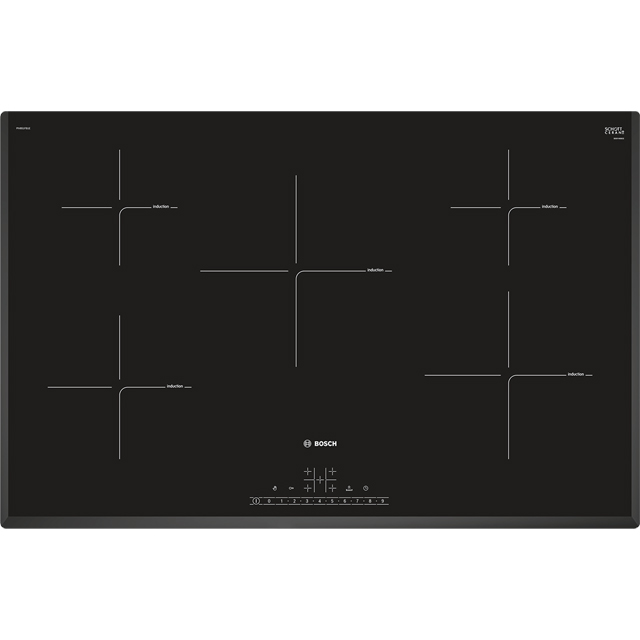Bosch Serie 6 PIV851FB1E 80cm Induction Hob - Black - PIV851FB1E_BK - 1