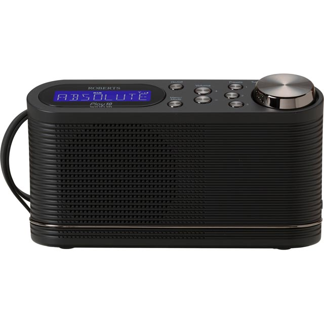 Roberts Radio Play10 DAB Digital Radio with FM Tuner - Black - Play10 - 1