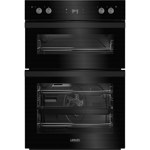 Leisure Patricia Urquiola PODM54300 Built In Double Oven - Black Glass - PODM54300_BK - 1