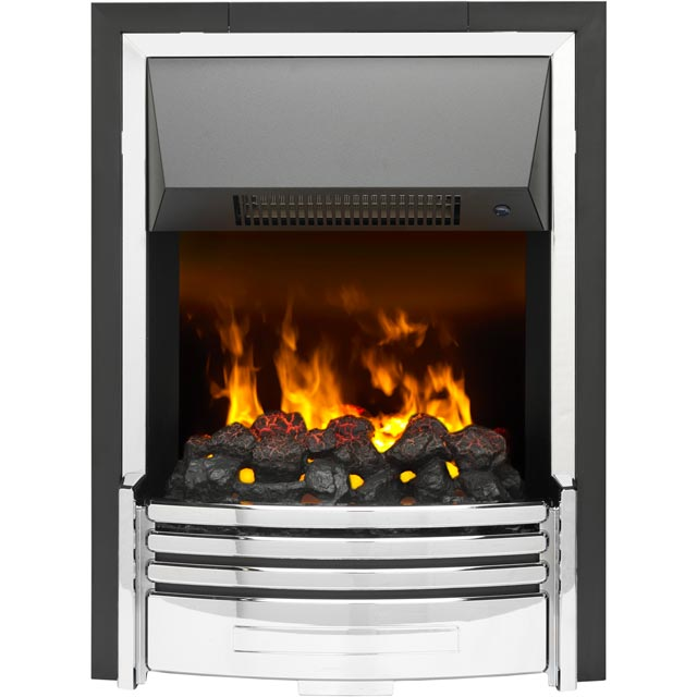Dimplex Pomona POM20 Coal Bed Inset Fire With Remote Control - Chrome - POM20_CHR - 1