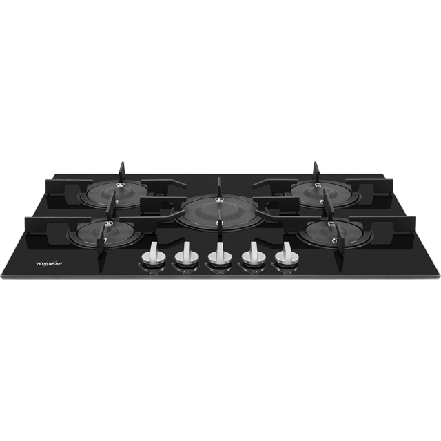 Whirlpool W Collection POW75D2/NB Built In Gas Hob - Black - POW75D2/NB_BK - 2