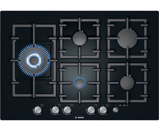 Product image for Bosch Exxcel PPS816M91E 75cm Gas Hob - Black