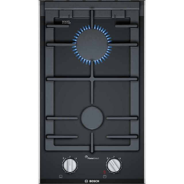 Bosch Serie 8 PRB3A6D70 Built In Gas Hob - Black - PRB3A6D70_BK - 1