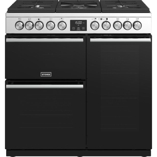 Stoves Precision DX S900DF 90cm Dual Fuel Range Cooker - Stainless Steel - A/A/A Rated