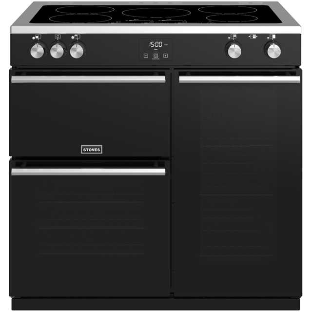 Stoves Precision DX S900Ei 90cm Electric Range Cooker with Induction Hob - Black - A/A/A Rated - Precision DX S900Ei_BK - 1