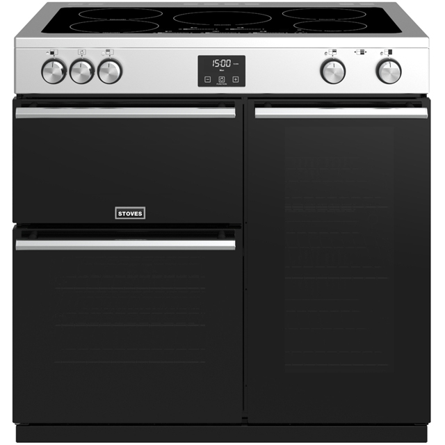 Stoves Precision DX S900Ei 90cm Electric Range Cooker with Induction Hob - Stainless Steel - A/A/A Rated - Precision DX S900Ei_SS - 1