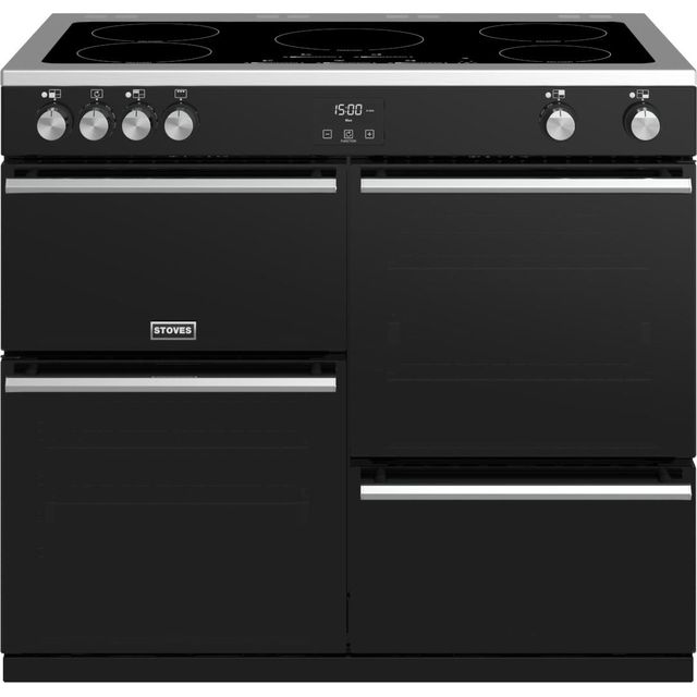 Stoves Precision DX S1000Ei 100cm Electric Range Cooker - Black - Precision DX S1000Ei_BK - 1