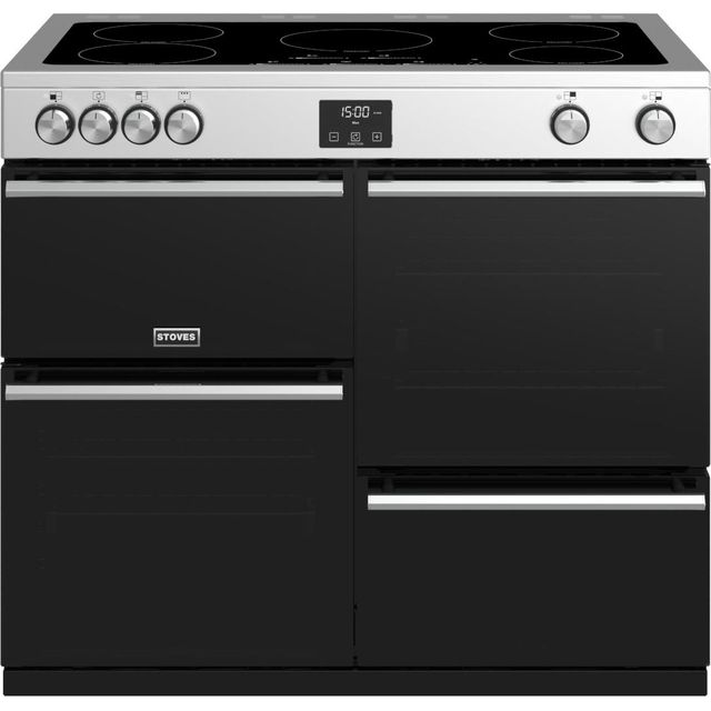 Stoves Precision DX S1000Ei 100cm Electric Range Cooker with Induction Hob - Stainless Steel - A/A/A Rated - Precision DX S1000Ei_SS - 1