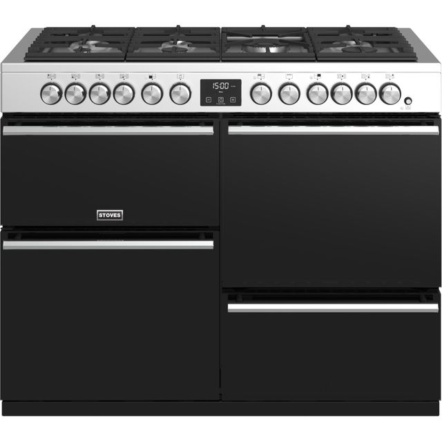 Stoves Precision DX S1100DF 110cm Dual Fuel Range Cooker - Stainless Steel - A/A/A Rated - Precision DX S1100DF_SS - 1