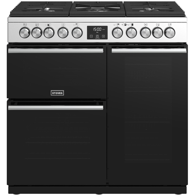 Stoves Precision DX S900DF 90cm Dual Fuel Range Cooker - Stainless Steel - A/A/A Rated - Precision DX S900DF_SS - 1