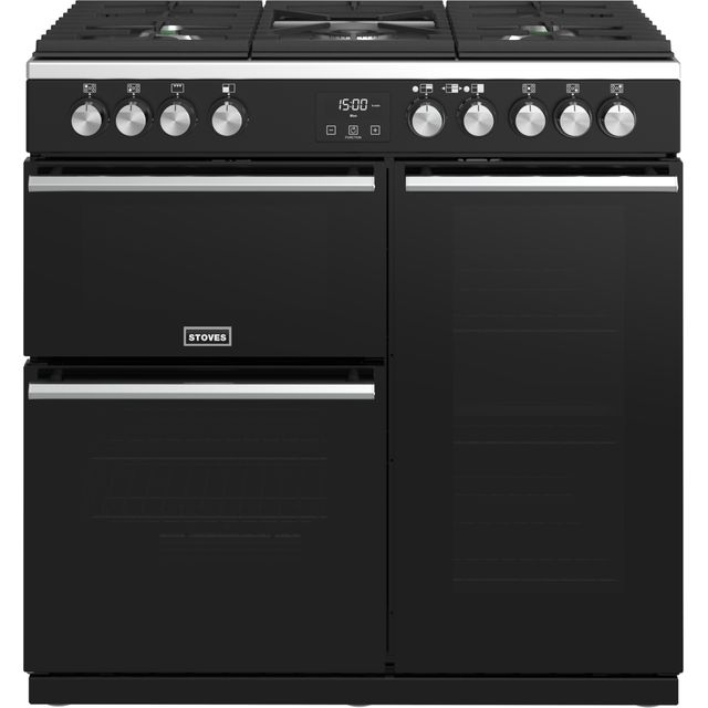 Stoves Precision DX S900G 90cm Gas Range Cooker - Black - A/A Rated - Precision DX S900G_BK - 1