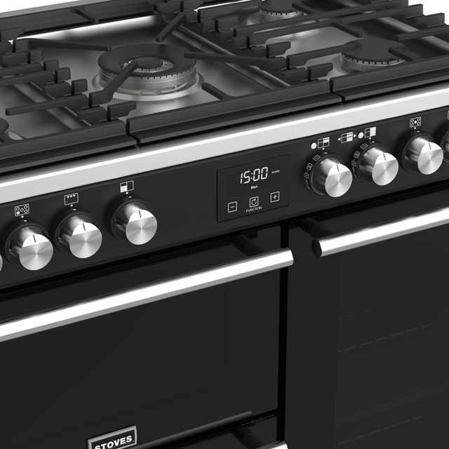 Stoves Precision DX S900G Gas Range Cooker - Black - Precision DX S900G_BK - 4