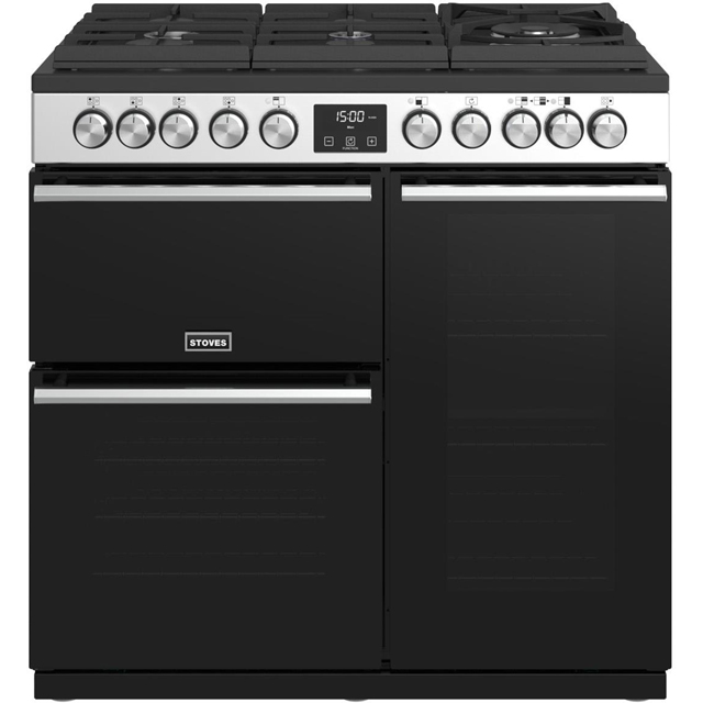 Stoves Precision DX S900GTG 90cm Dual Fuel Range Cooker - Stainless Steel - A/A/A Rated - Precision DX S900GTG_SS - 1